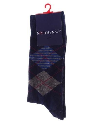 North Of Navy Çorap İndigo